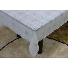 Printed pvc lace tablecloth by roll diaper